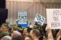 U S Obiecujący Prezydenci Bernie Sanders wiec zdjęcie stock