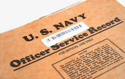 U.S. Officer Service Record Stock Photo