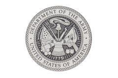 U S Officiell skyddsremsa för armé Arkivfoto