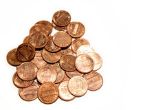U.S. one cent coins Stock Image