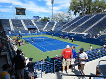 U. S. Open Tennis Grandstand Court Royalty Free Stock Photography
