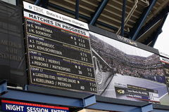 U.S. Open Tennis Scoreboard Royalty Free Stock Image