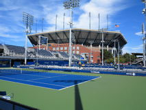 U S Ouvrez le tennis - cours latérales Photo stock