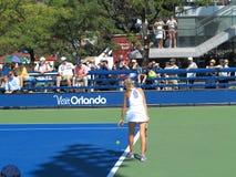 U S Ouvrez le tennis - cours latérales Photos libres de droits