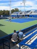 U S Ouvrez le tennis - cours latérales Image stock