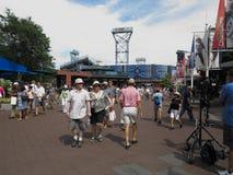 U S Ouvrez les au sol de tennis Photographie stock