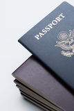 U.S. passport on top of the stack of passports Royalty Free Stock Image
