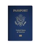 U S Paszport z mikroukładem ilustracja wektor