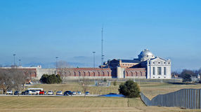 U.S. penitentiary Leavenworth Kansas. A medium security U.S. penitentiary in Leavenworth Kansas with an adjacent minimum security satellite camp Royalty Free Stock Images