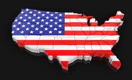 U.S.A. (percorso di ritaglio incluso) Immagini Stock Libere da Diritti