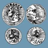 U.S. Pièces de monnaie Image stock