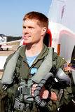 U.S. Piloto de caça da marinha Imagem de Stock