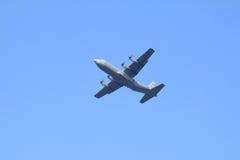 U.S. Plano de Hércules de la fuerza aérea en Holanda Fotografía de archivo libre de regalías