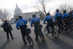 U.S. Polizia della bici di Campidoglio Fotografia Stock