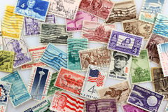U. S. Postage Stamps. Three and four cent United States stamp background royalty free stock photography