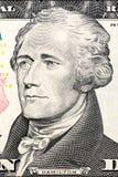 U S Präsident Alexander Hamilton auf dem zehn Dollarschein Stockbilder