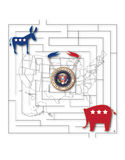 U S-Präsidentschaftswahl Stockbild