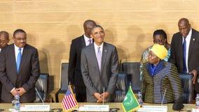 U.S. President Barack Obama makes his first presidential visit t Stock Image