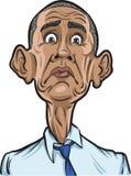 U.S. President Barack Obama surprised. Vector illustration of U.S. President Barack Obama surprised royalty free illustration
