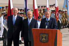 U.S. President George W. Bush visit to Israel royalty free stock photography