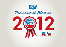 U.S presidential election 2012. Badge and icons for u.s presidential election 2012 Stock Images