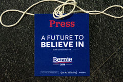 U.S. Presidential Hopeful Bernie Sanders Rally Royalty Free Stock Photo