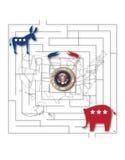 U S-presidentval Fotografering för Bildbyråer