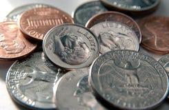 U.S. primo piano della moneta Immagine Stock