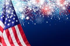 U.S.A. progettazione di festa dell'indipendenza del 4 luglio Fotografie Stock Libere da Diritti