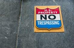 U S Proprietà - nessun violare Immagine Stock Libera da Diritti