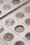 U.S. quarters collection Royalty Free Stock Photography