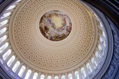 U S rotunda capitol arkivbild