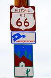 U S route 66 Arkivfoto