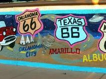 U S Route 66, atracción, mural de la pared, Kingman, Arizona imagen de archivo libre de regalías