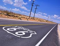 U.S. Route 66 highway. Stock Photography