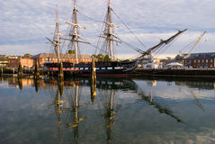 U.S.S. Constitution. Historic battle ship (Old Ironside) USS Constitution Royalty Free Stock Photos