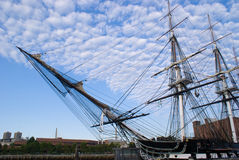 U.S.S. Constitution. Historic battle ship (Old Ironside) USS Constitution Royalty Free Stock Photography
