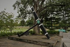 U.S.S. Maine Memorial, Arlington National Cemetery. This is the anchor of the U.S.S Maine that was sunk in 1898 in Havana, Cuba, Harbor Royalty Free Stock Photos