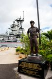 U.S.S. Missouri in Hawaii. Pearl Harbor, HI: September 27, 2016: U.S.S. Missouri in Pearl Harbor. The USS Missouri is where Japan signed the instrument of Stock Photos