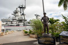 U.S.S. Missouri. Pearl Harbor, HI: September 27, 2016: U.S.S. Missouri in Pearl Harbor. The USS Missouri is where Japan signed the instrument of surrender with Royalty Free Stock Photos