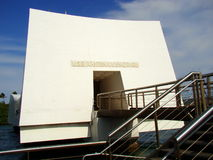 U.S.S. Monumento de Arizona en el Pearl Harbor, Oahu, HI Fotos de archivo