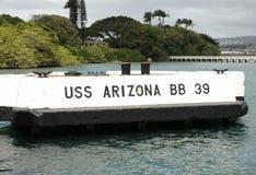 U.S.S. Pilastro di aggancio dell'Arizona Immagini Stock