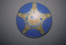 U.S. Secret Service Shield Stock Photo