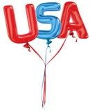 U.S.A. segna i palloni con lettere Immagine Stock Libera da Diritti
