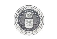 U S Sello del funcionario de la fuerza aérea imágenes de archivo libres de regalías