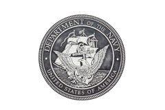 U S Sello del funcionario de la marina de guerra Fotografía de archivo libre de regalías