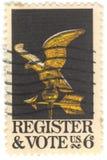 U.S. Sello del registro y del voto Foto de archivo libre de regalías