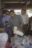 U.S. Senator Barak Obama. Campaigning for President while pouring lemonade at Iowa State Fair in Des Moines Iowa, August 16, 2007 Royalty Free Stock Photos