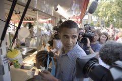 U.S. Senator Barak Obama Arkivbild
