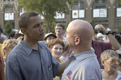 U.S. Senator Barak Obama. Campaigning for President at Iowa State Fair in Des Moines Iowa, August 16, 2007 Stock Photography